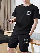Недорогие -Муж. Классический Activewear Set - Однотонный