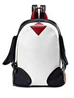 cheap -Women's Bags PU(Polyurethane) Backpack Zipper Black / White