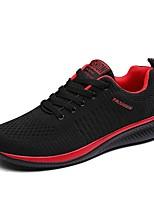 cheap -Men's Mesh / Synthetics Summer Comfort Sneakers Black / Black / Red / Black / Green