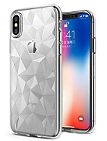 cheap -Case For Apple iPhone X / iPhone 8 Plus Ultra-thin / Transparent Back Cover Solid Colored Soft TPU for iPhone X / iPhone 8 Plus / iPhone 8