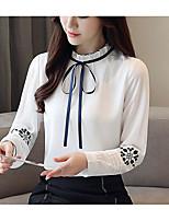 Недорогие -Жен. С кисточками Блуза Винтаж / Классический Однотонный