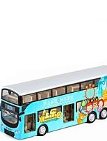 Недорогие -Игрушечные машинки Автобус Двухэтажный автобус Новый дизайн Металлический сплав Все Детские / Для подростков Подарок 1 pcs