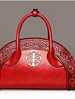 cheap -Women's Bags PU(Polyurethane) Shoulder Bag Zipper Green / Brown / Wine
