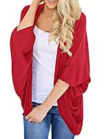 Недорогие -Жен. Плиссировка Блуза Уличный стиль / преувеличены Однотонный