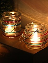 cheap -Country / Rustic / Simple Style Glass Candle Holders Candelabra 1pc, Candle / Candle Holder