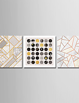 cheap -Print Stretched Canvas Prints - Shapes / Geometrics & Arrows Modern
