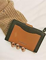 cheap -Women's Bags PU(Polyurethane) Wallet Zipper Green / Black / Silver