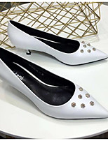 cheap -Women's Shoes Sheepskin Summer Basic Pump Heels Stiletto Heel White / Black / Yellow
