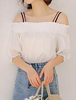 cheap -Women's Blouse - Solid Colored / Color Block Strap