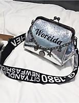 preiswerte -Damen Taschen PU Umhängetasche Reißverschluss Schwarz / Silber / Rosa