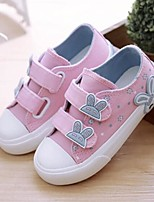 cheap -Girls' Shoes Canvas Spring / Fall Comfort Sneakers Magic Tape for Kids Black / Blue / Pink