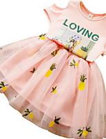 Недорогие -Дети / Дети (1-4 лет) Девочки С принтом С короткими рукавами Набор одежды
