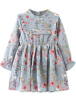 cheap -Kids / Toddler Girls' Floral Long Sleeve Dress