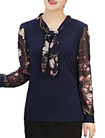 cheap -Women's Basic T-shirt - Solid Colored / Floral