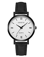 cheap -Geneva Women's Wrist Watch Quartz New Design Casual Watch Cool Leather Band Analog Casual Fashion Black / White / Brown - Black / White Rose Gold White / Brown One Year Battery Life