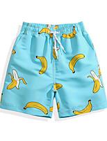 baratos -Para Meninos Shorts de Natação Ultra Leve (UL), Secagem Rápida, Respirável POLY Roupa de Banho Roupa de Praia Bermuda de Surf / Calças Fruta Surfe / Praia / Esportes Aquáticos