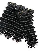 economico -4 pacchi Brasiliano Riccio Cappelli veri Ciocche a onde capelli veri / Estensore 8-28 pollice Tessiture capelli umani A macchina Migliore qualità / Nuovo arrivo / 100% Vergine Naturale Estensioni dei