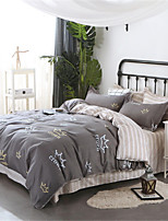 cheap -Duvet Cover Sets Solid Colored Polyster Applique 3 Piece