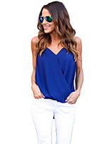 cheap -women's going out loose blouse - solid colored strap