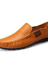 preiswerte -Herrn Nappaleder Frühling Sommer / Herbst Winter Komfort Loafers & Slip-Ons Braun / Dunkelbraun / Khaki