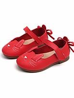 Недорогие -Девочки Обувь Искусственная кожа Весна & осень Удобная обувь / Детская праздничная обувь На плокой подошве для Желтый / Красный / Розовый