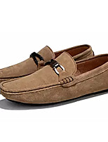cheap -Men's Moccasin Suede Summer Loafers & Slip-Ons Black / Brown / Khaki