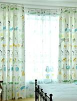 cheap -Kids Curtains Kids Room Cartoon Linen / Cotton Blend Printed