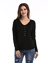 cheap -women's holiday cotton t-shirt - solid colored sweetheart neckline