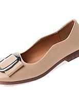 cheap -Women's Shoes PU(Polyurethane) Summer Comfort Flats Flat Heel Square Toe Beige / Almond