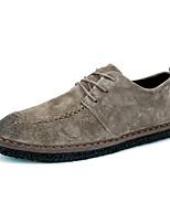 Недорогие -Муж. Наппа Leather Лето Удобная обувь Туфли на шнуровке Черный / Хаки