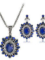 cheap -Women's Stylish Jewelry Set - Creative, Flower Stylish, European Include Drop Earrings / Necklace Blue For Wedding / Daily