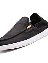 Недорогие -Муж. Полотно Осень Удобная обувь Мокасины и Свитер Белый / Черный / Серый