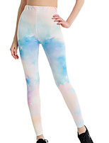 cheap -Women's Daily Basic Legging - Color Block, Print High Waist