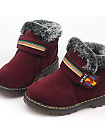 cheap -Girls' Shoes Pigskin Winter Comfort / Snow Boots Boots for Black / Yellow / Burgundy