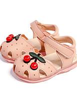 Недорогие -Девочки Обувь Полиуретан Весна лето Обувь для малышей Сандалии Бусины для Дети (1-4 лет) Белый / Розовый / Синий+Розовый