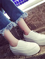 cheap -Women's Shoes Nappa Leather Spring & Summer Comfort Sneakers Flat Heel Closed Toe White