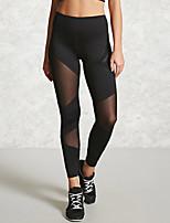 abordables -Mujer Básico Legging - Un Color Alta cintura