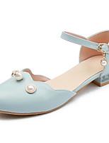Недорогие -Жен. Обувь Полиуретан Лето Удобная обувь Обувь на каблуках На низком каблуке Белый / Синий / Розовый