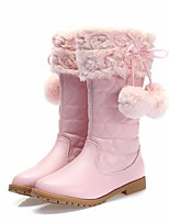 cheap -Girls' Shoes PU(Polyurethane) Winter Comfort / Snow Boots Boots for Black / Pink / Mid-Calf Boots