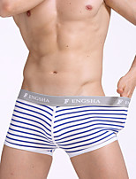 cheap -Men's Boxers Underwear Check Mid Waist