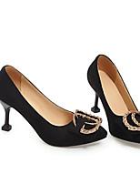Недорогие -Жен. Обувь Полиуретан Весна / Осень Удобная обувь / Туфли лодочки Обувь на каблуках На конусовидном каблуке Черный / Бежевый / Розовый