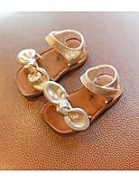 Недорогие -Девочки Обувь Искусственная кожа Лето Удобная обувь / Обувь для малышей Сандалии для Золотой / Черный
