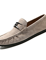 cheap -Men's Moccasin Suede Summer Loafers & Slip-Ons Black / Red / Khaki
