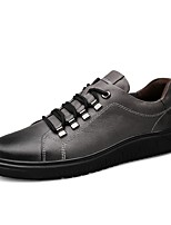 cheap -Men's Nappa Leather Spring Comfort Sneakers Black / Gray