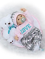 cheap -NPKCOLLECTION Reborn Doll Baby Girl 24 inch lifelike, Hand Applied Eyelashes, Tipped and Sealed Nails Kid's Girls' Gift / Artificial Implantation Brown Eyes / Natural Skin Tone / Floppy Head