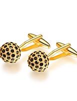 baratos -Formato Circular Prata / Dourado Botões de Punho Cobre Formal / Fashion Homens Jóias de fantasia Para Presente / Diário