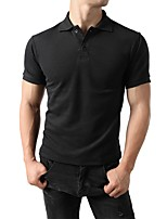 cheap -Men's Business / Basic Polo - Solid Colored