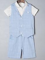Недорогие -Дети Мальчики Однотонный Без рукавов Набор одежды