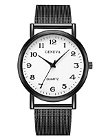 cheap -Geneva Women's Wrist Watch Chinese New Design / Casual Watch / Cool Alloy Band Casual / Fashion Black / One Year