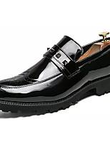 cheap -Men's PU(Polyurethane) Spring Comfort Loafers & Slip-Ons Black / Black / Gold